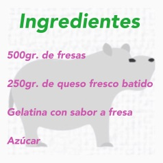 INGREDIENTES SORBETE DE FRESA